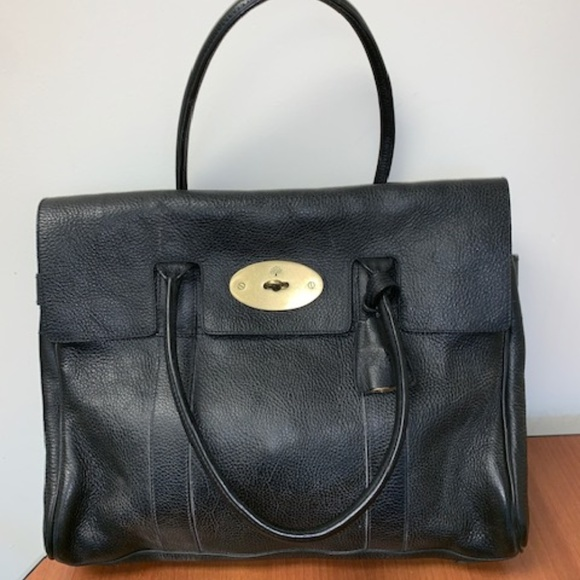 6543d23e2f Authentic Mulberry Bayswater tote satchel black